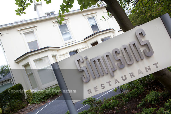 Simpsons restaurant, Edgbaston, Birmingham. Michellin starred restaurant.