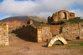 Main Baths from entrance; Bulla Regia, Tunisia, Landscape