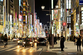 Evening street in Ginza