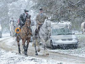 Members of the Fitzwilliam and Woodland Pytchley Hunts