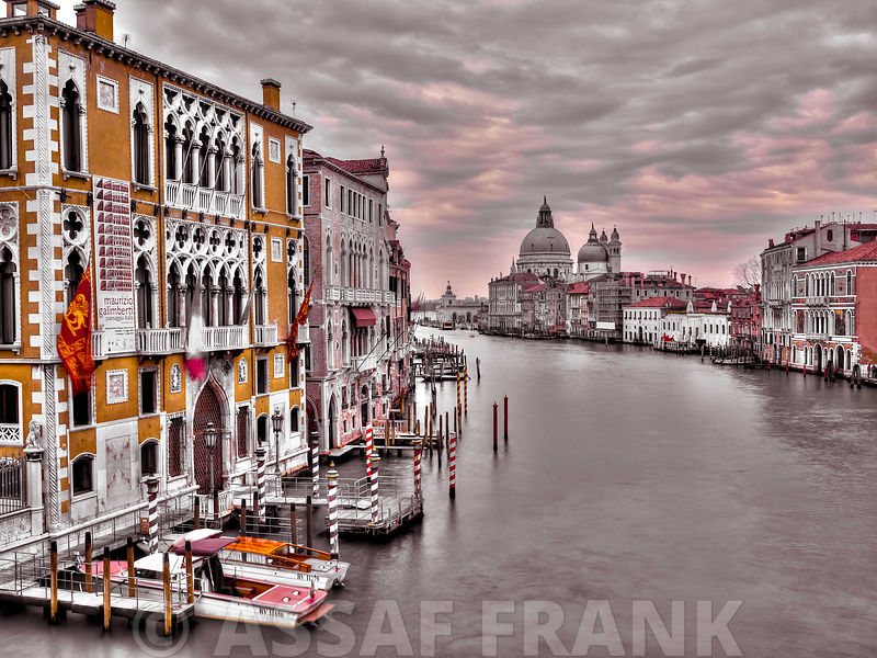 Cityscape and grand canal, Venice, Italy