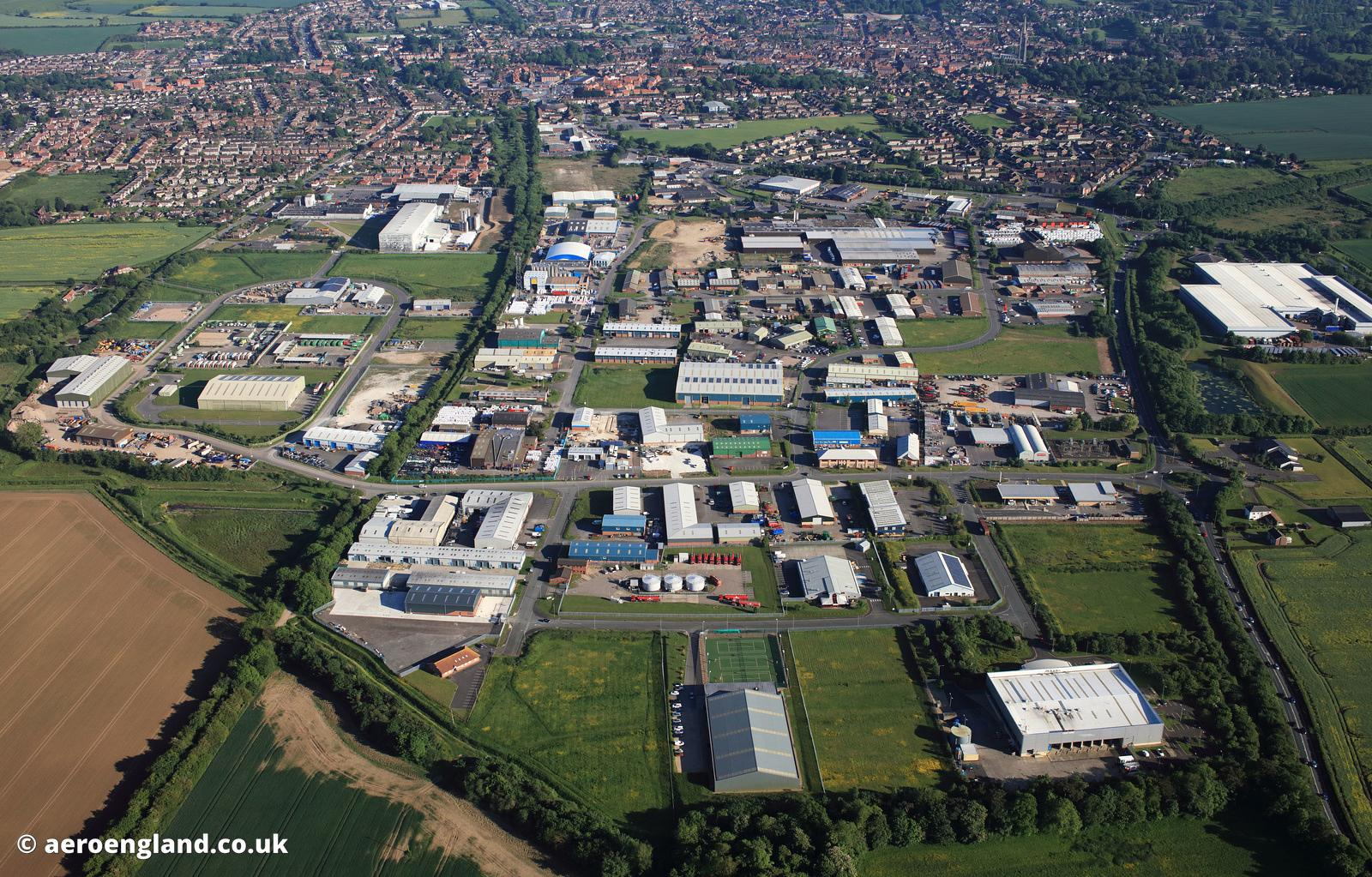 Fairfield Industrial Estate Louth Lincolnshire  aerial photograph