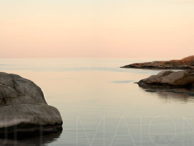 Sunrise on sea and rocks