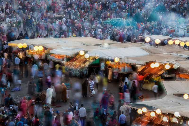 Market at Marrakech at Dusk