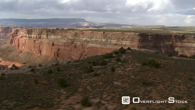 Flight over Cummings Mesa to view Wetherill Canyon in Arizona