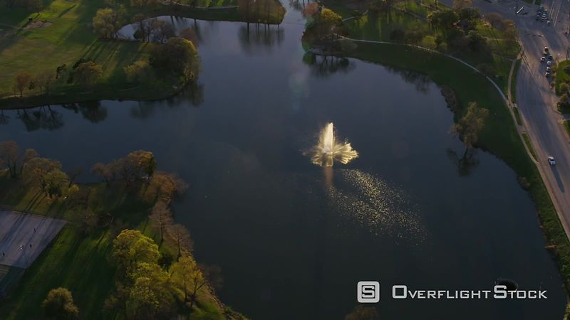 Dallas, Texas Aerial view of Lake Cliff Park