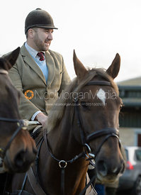 Russell Cripps at the meet - The Cottesmore Hunt at the kennels 21/10