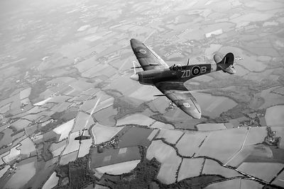 Spitfire victory black and white version