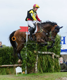 Merel Blom and RUMOUR HAS IT - Cross Country phase, Mitsubishi Motors Badminton Horse Trials 2014