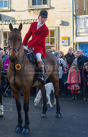 Robert Medcalf - The Cottesmore Hunt in Uppingham on New Year's Day 2013