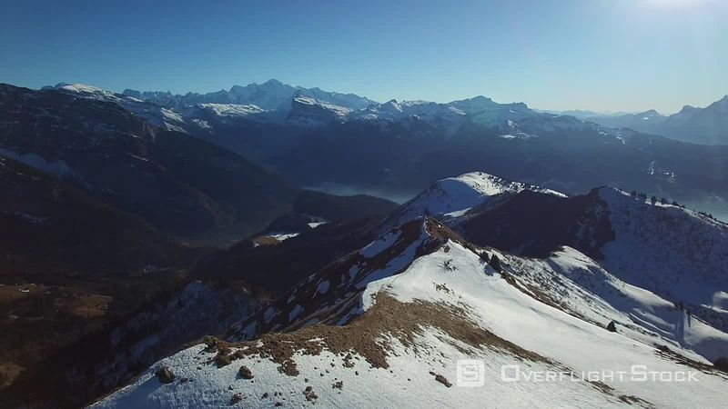 Ridge Alps Hiking Trail With Views of Mont Blanc France