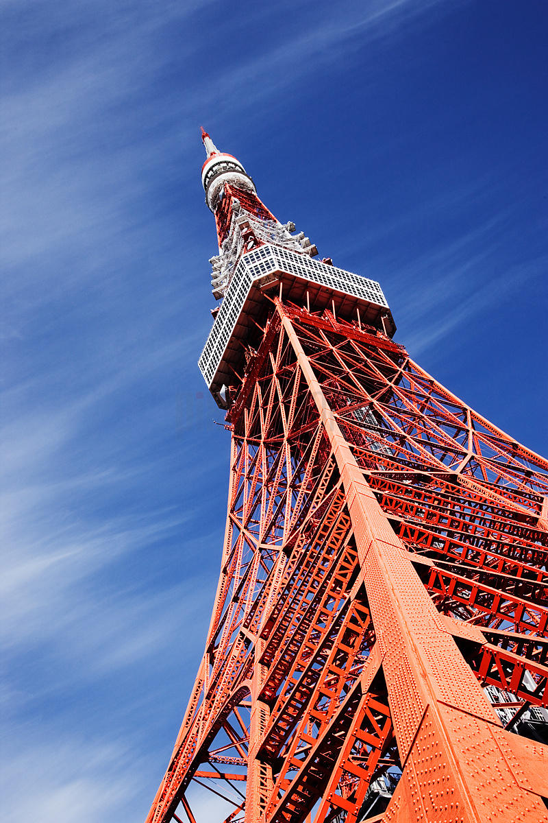 Tokyo Tower Against Blue Sky