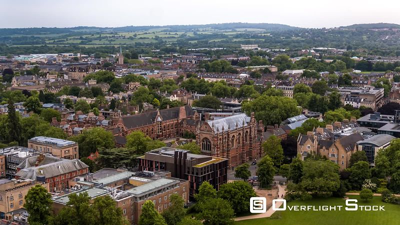 Keble College, Oxford, seen by drone