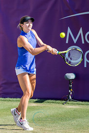 Catherine Bellis (USA) wining againstCarla Suárez Navarro (ESP) the first round at the Mallorca Open 2017 in Santa Ponsa - Mallorca