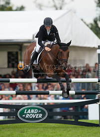 Lucy Jackson and Willy Do - show jumping phase,  Land Rover Burghley Horse Trials, 2nd September 2012.