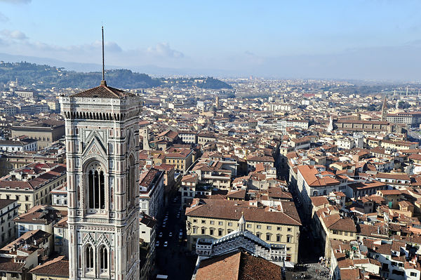 Campanile and rooftops, Florence