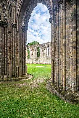 Main Church Arch, Glastonbury Abbey- Glastonbury, England
