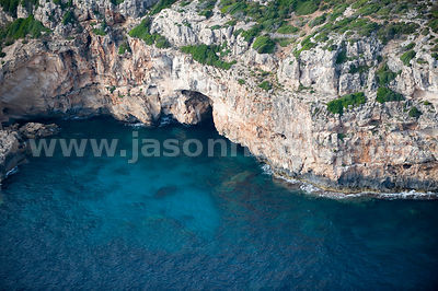 Cliffs, Cala en Porter, Menorca, Spain