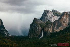 Stormy weather at Yosemite national park, USA