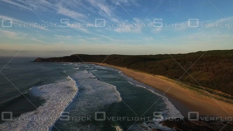Flying along the beach Noosa Australia