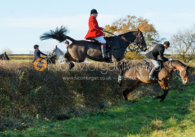 James Mossman jumping a hedge at Barrowcliffe Farm 18/11