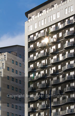 Masshouse development in Eastside, Birmingham, West Midlands, England, UK