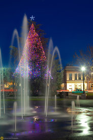 Downtown Chico Plaza at Christmas #2
