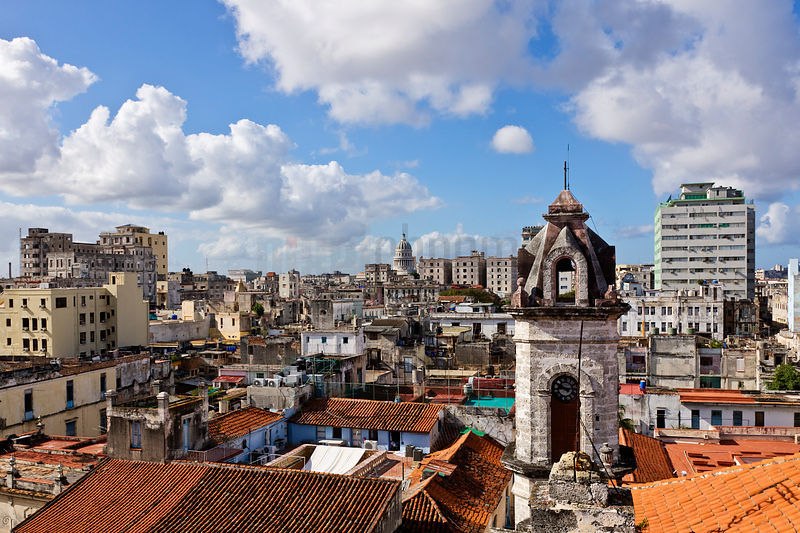 Elevated View over the Rooftops of Havana