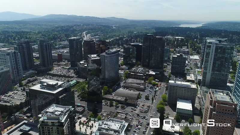 Downtown Bellevue Washington State Drone Video
