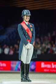 Dujardin,Charlotte  with Valegro, (GBR),  Lyon, Eurexpo, 20.04.14, REEM ACRA FEI WORLD CUP DRESSAGE FINAL - Grand Prix Freestyle
