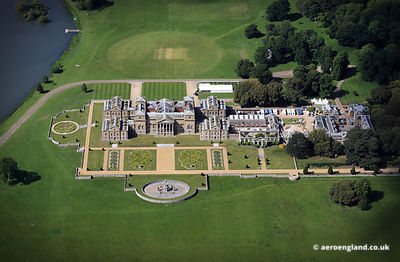 aerial photograph of Holkham Hall ,  Norfolk England UK.