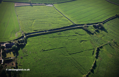 Calcethorpe deserted medieval villages (DMV) Lincolnshire aerial photograph