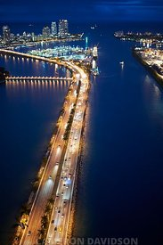 Aerial USA Florida Miami Beach MacArthur Causeway