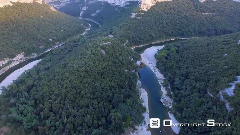 Natural Reserve of the Ardèche Gorges Drone Video France