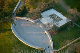 Aerial photograph of the John F. Kennedy Memorial at Arlington National Cemetery
