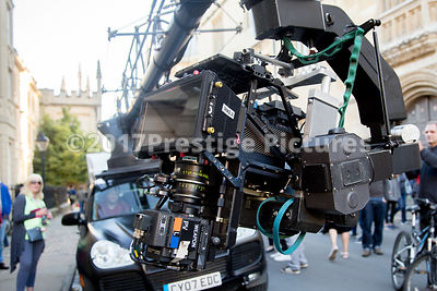 Closeups of the Red Dragon 3D rig filming Transformers 5 in Oxford