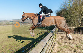 William Bell jumping a hedge near the meet