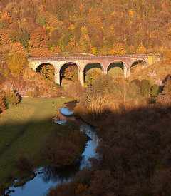 Monsal Viaduct and river Wye