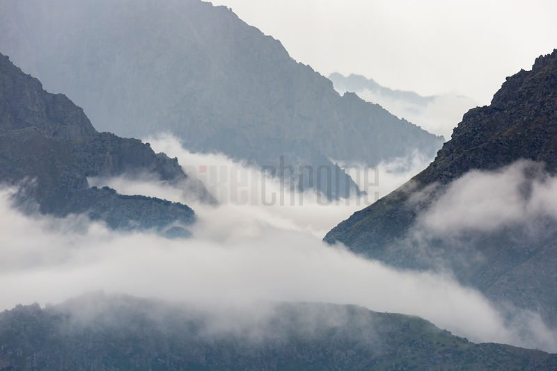Cloud Rolling in to the Daryal Gorge
