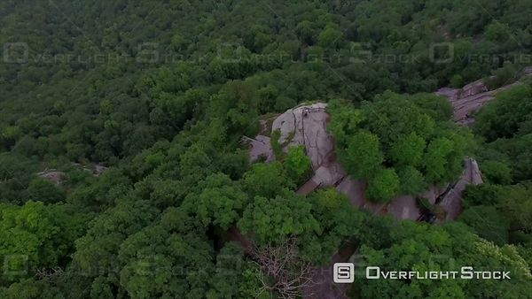 Aerial Flying Over Caesars Head State Park In South Carolina