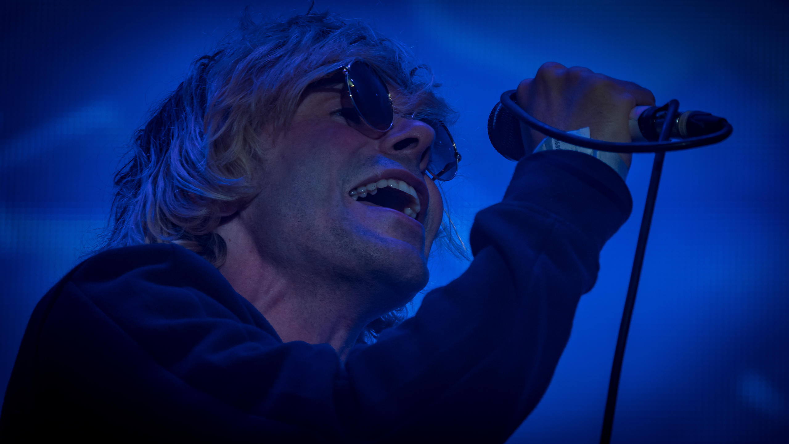 Charlatans Performing on the Castle Stage at Victorious Festival 2017