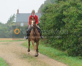 Cottesmore Whip Robert Medcalf - The Cottesmore Hunt at Tongue End 28/8