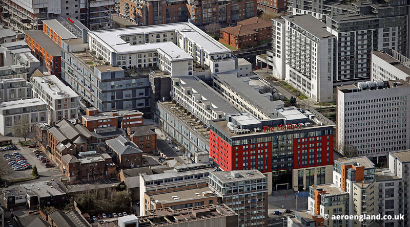 aerial photograph of the the Mailbox  Birmingham, West Midlands England UK