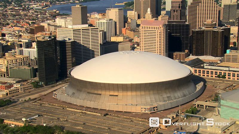 Orbiting Superdome in New Orleans.