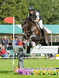 Andreas Dibowksi and FRH BUTTS LEON - cross country phase,  Land Rover Burghley Horse Trials, 7th September 2013.