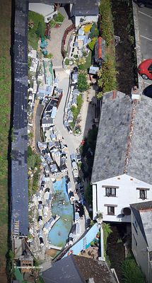 Polperro Model Village Cornwall  aerial photograph