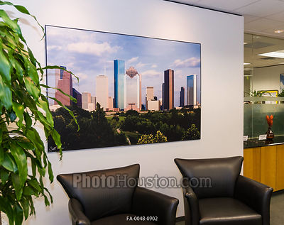Photograph displayed in office reception room