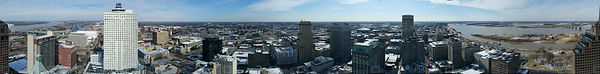 Panoramic of Downtown Memphis Tennessee USA