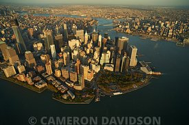 New York City Aerial Photograph of The Battery and Financial District.