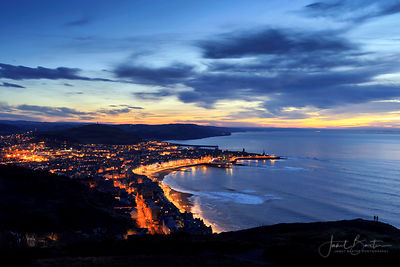 Aberystwyth at night from Constitution Hill